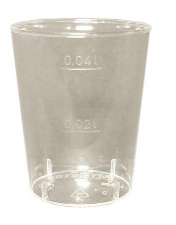 Műanyag 2-4 cl pohár [50db]