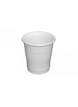 Műanyag pohár 0.8dl fehér [100db]