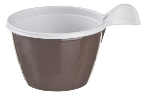 Műanyag füles pohár 1.9dl barna [50db]