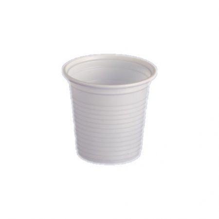 Műanyag pohár 1dl fehér [100db]