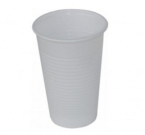 Műanyag pohár 2dl fehér [100db]